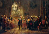 Flute Concert with Frederick the Great in Sanssouci 1850 - 1852 - Adolph Menzel